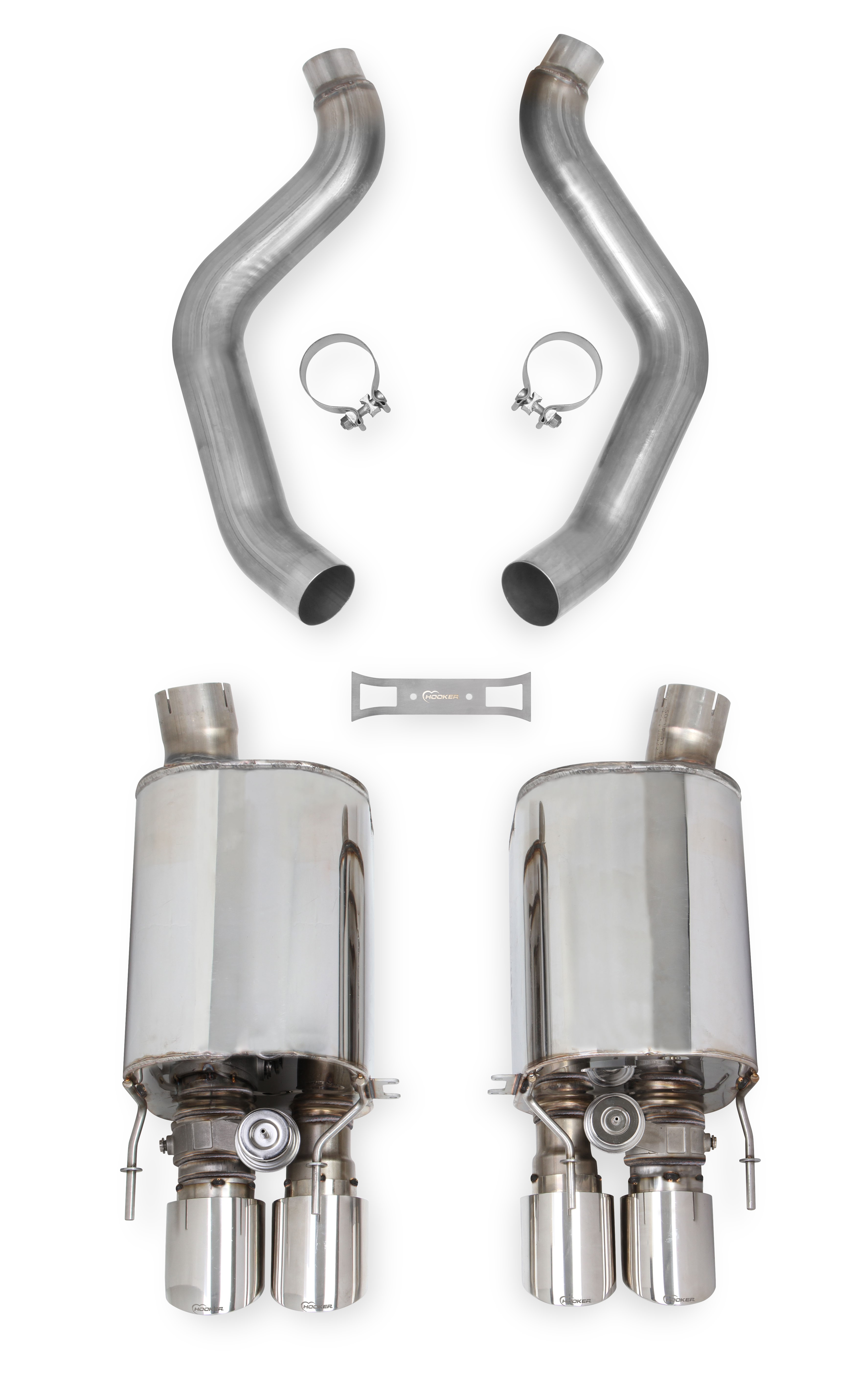 "2005-2008 C6 Corvette Hooker Headers Blackheart 3"" Axle-Back Exhaust System w/Dual Mode(NPP) Muffler"