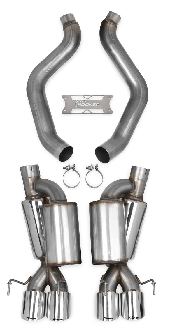 "2009-2013 C6 Corvette Headers Blackheart 3"" Axleback Exhaust System w/Mufflers & Tips"