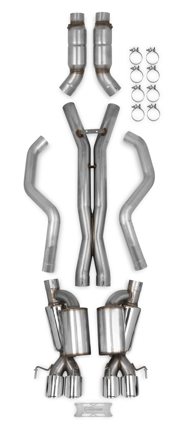 2005-2013 C6 Corvette Hooker Blackheart Header Back Race Exhaust System w/Mufflers & Cats