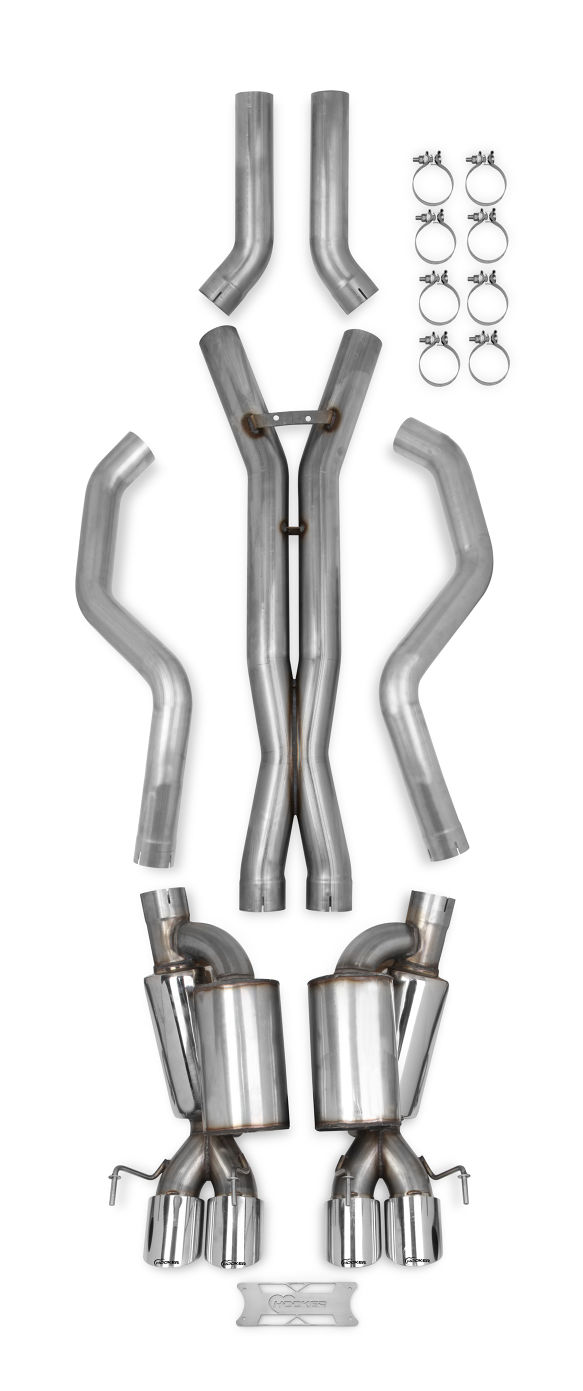 "2005-2013 C6 Corvette Hooker Blackheart Header Back 3"" Exhaust System w/Mufflers"