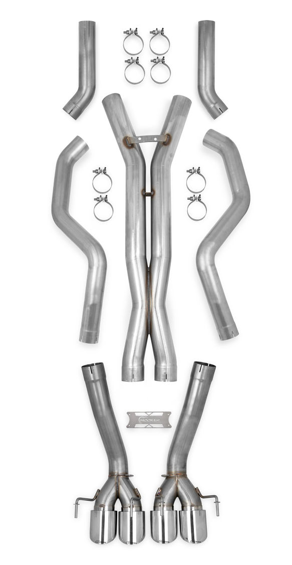 "2005-2013 C6 Corvette Hooker Blackheart Header Back 3"" Exhaust System - No Mufflers"