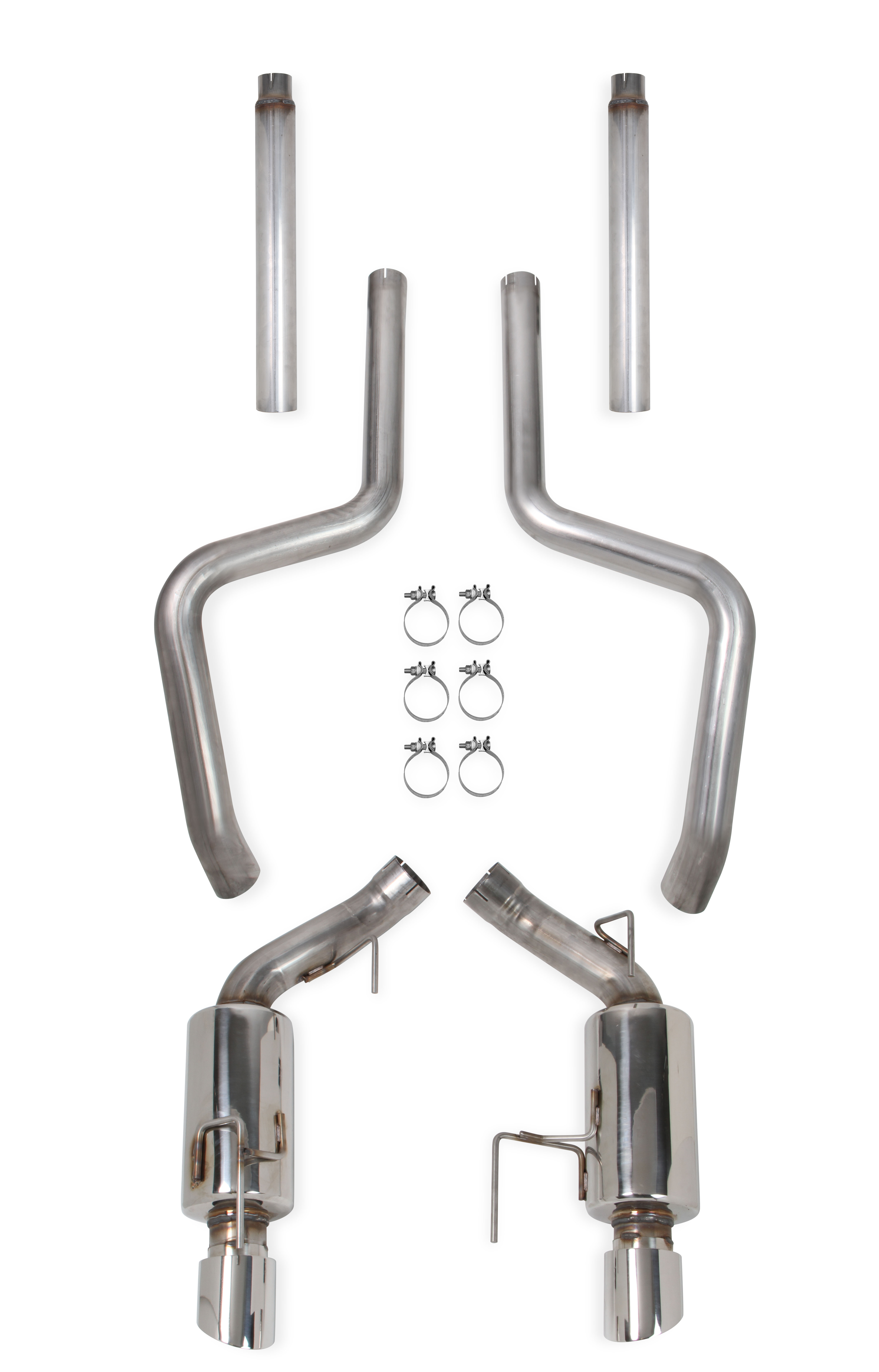 "2005-2009 Ford Mustang GT 4.6L V8 Hooker Blackheart 3"" Catback Exhaust System w/Mufflers"