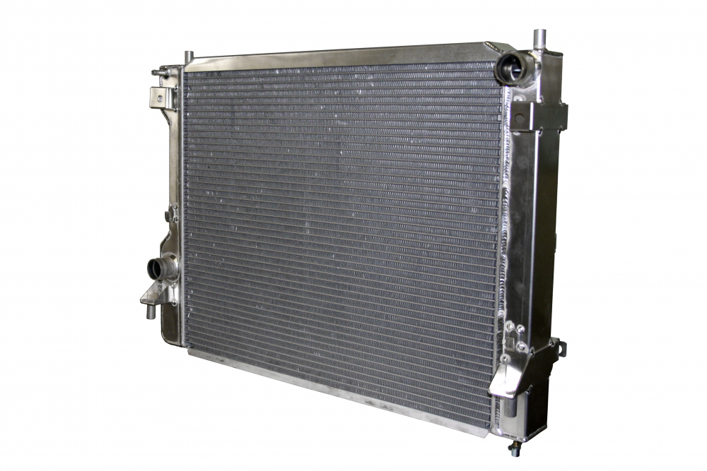 2010+ Ford Mustang AFCO Aluminum Polished Crossflow Radiator