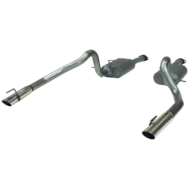 1999-2004 Ford Mustang GT/Mach1/Bullitt Flowmaster Catback Exhaust System - Stainless Steel (Moderate Sound)