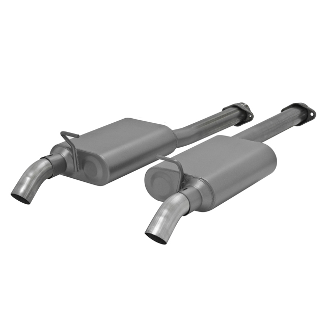 1986-1998 Ford Mustang V8 Flowmaster American Thunder Stainless Exhaust System - Rear Dumps