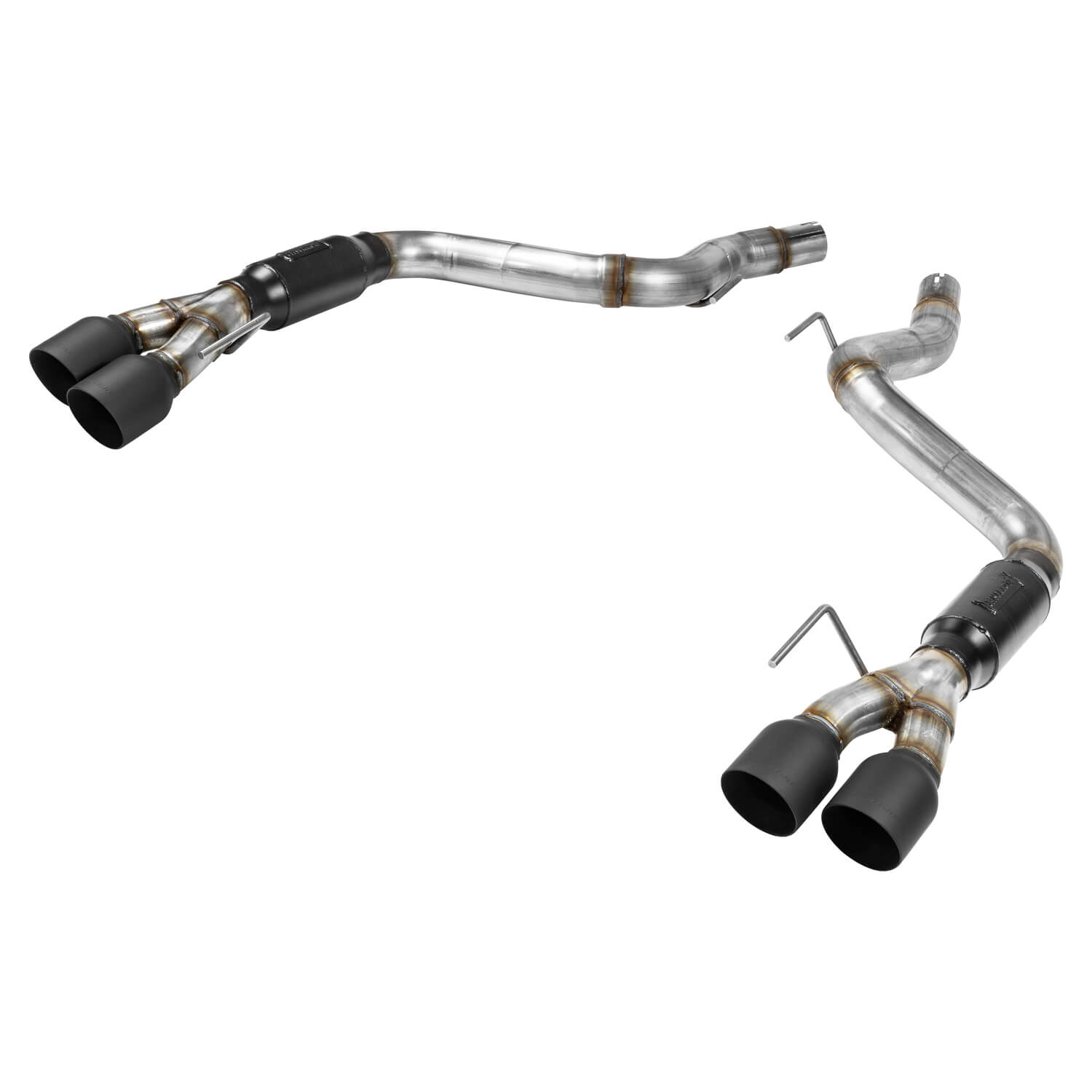 2018+ Ford Mustang GT 5.0L V8 Flowmaster Outlaw Axleback Exhaust System w/Black Tips