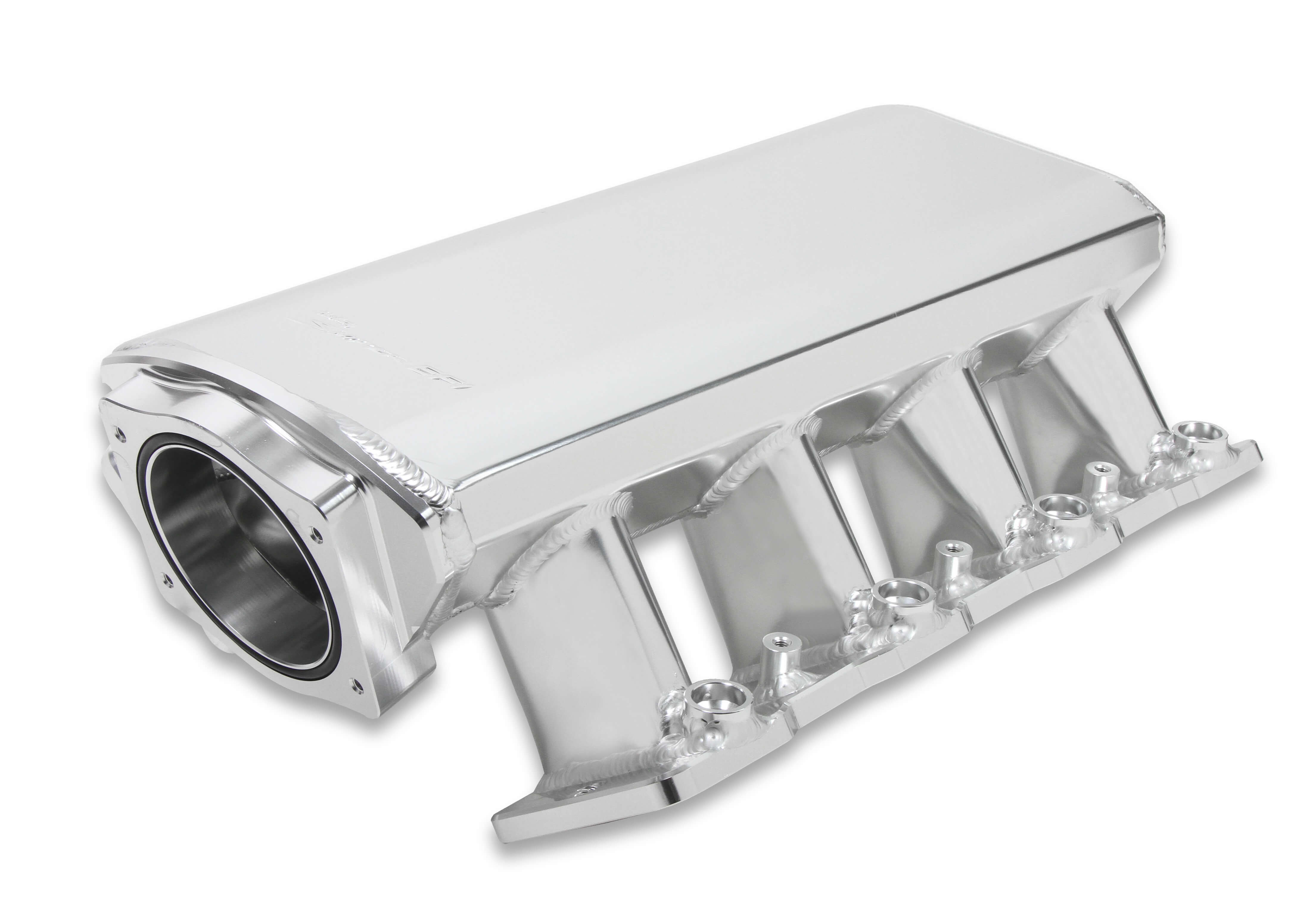 LS1/LS2/LS6 Holley Sniper EFI Low-Profile 92mm Sheet Metal Fabricated Intake Manifold w/Fuel Rail Kit - Silver