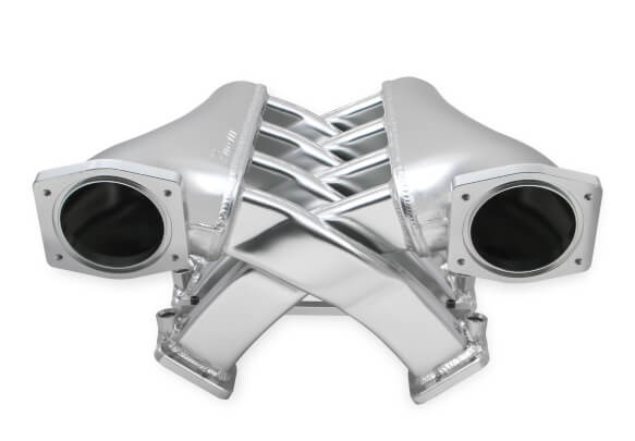 LS3/L92 Holley Sniper EFI Fabricated Intake Manifold Dual Plenum 92mm TB spacers, and Fuel Rail Kit - Silver