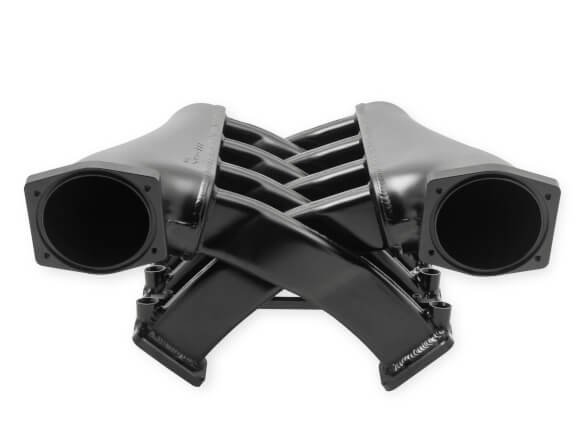 LS3/L92 Holley Sniper EFI Fabricated Intake Manifold Dual Plenum 102mm TB spacers, and Fuel Rail Kit - Black