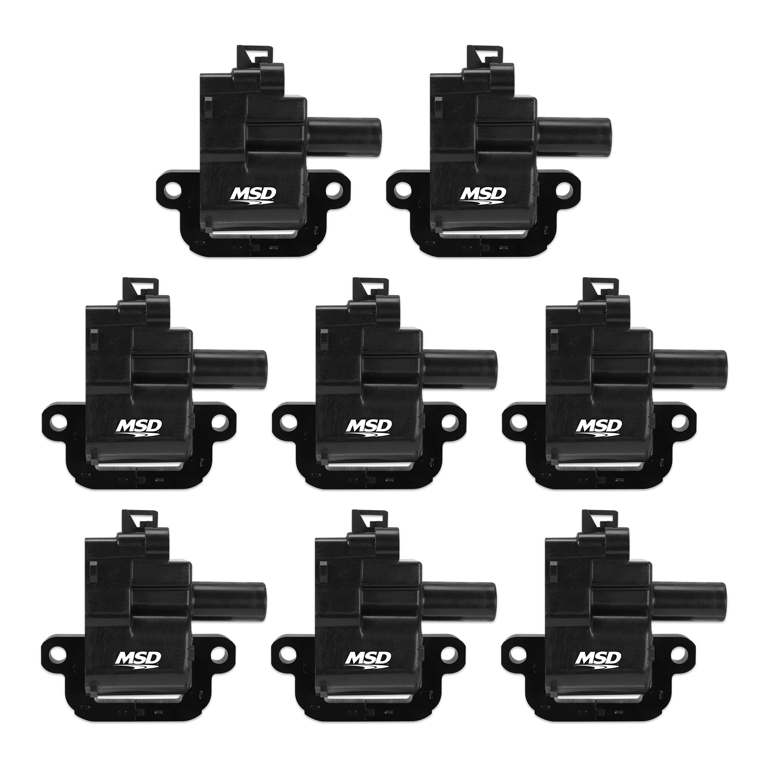 LS1/LS6 MSD Coil Set of 8 - Black