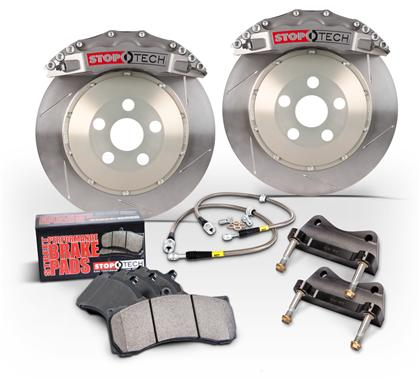 97-04 C5/ZO6 Corvette Stoptech Front Big Brake Kit w/Trophy Anodized  ST-60 Calipers & 2pc 380x32mm Slotted Rotors