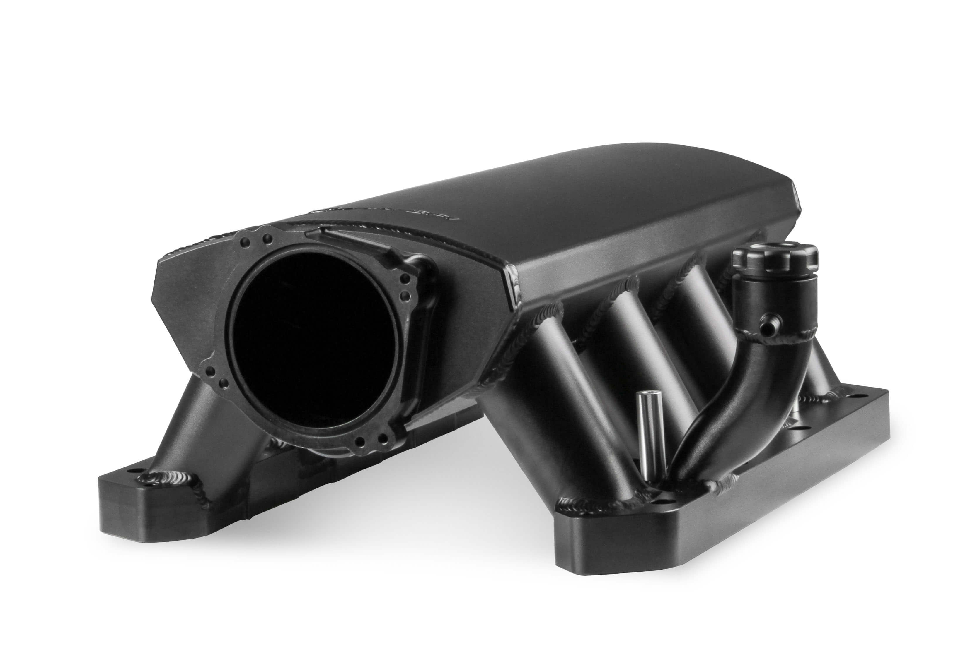 Holley Sniper Dodge 5.7L/6.1L/6.4L Hi-Ram 90mm Dual Throttle Body Sheet Metal Fabricated Intake Manifold w/Fuel Rail Kit - Black