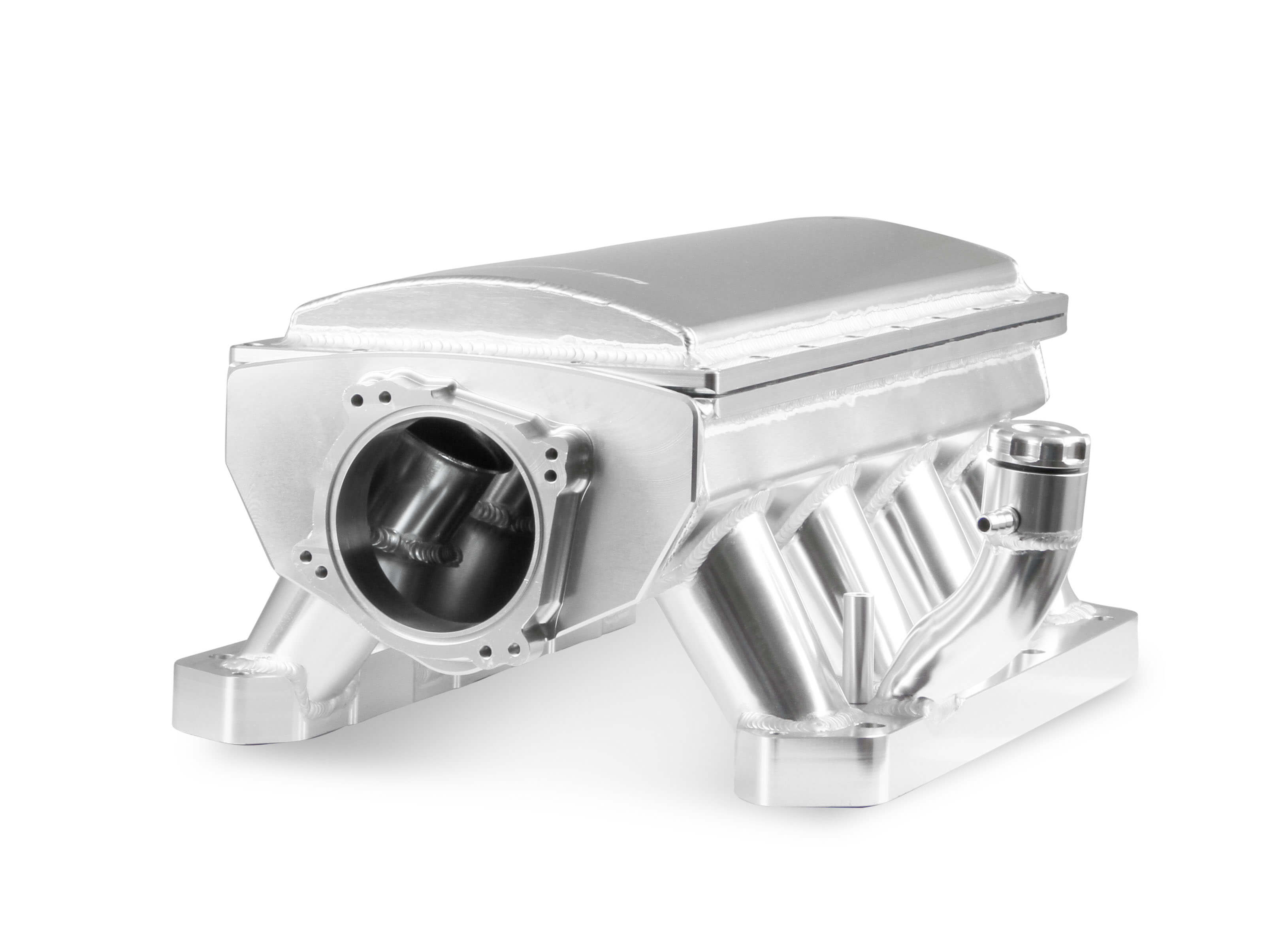 Holley Sniper Dodge 5.7L/6.1L/6.4L Hi-Ram 90mm Dual Throttle Body Bolt Pattern Race Series Intake w/Fuel Rail Kit - Silver