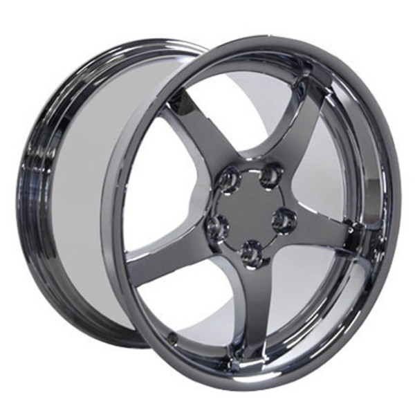 "OE Wheels Corvette C5 Y2K Replica Deepdish Wheel - Chrome 18x10.5""/18x9.5"" Set (54mm/56mm Offset)"