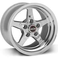 "93-02 F-body Race Star Industries 92 Drag Star Polished Wheels (15"" x 10"") w/-5.5"" Back Spacing"