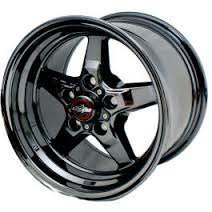 "93-02 F-body Race Star Industries 92 Drag Star Dark Star Black Chrome Wheels (15"" x 8"") w/-5.25"" Back Spacing"