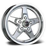 "Race Star Industries 92 Drag Star Polished Wheels (17"" x 4.5"")"