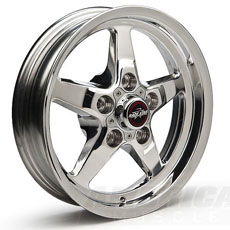 "Race Star Industries 92 Drag Star Polished Wheels (17"" x 7"") -4.25"" Backspacing"