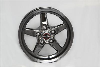 "Race Star Industries 92 Drag Star Dark Star Ram Black Chrome Wheels (17"" x 10.5"") 5-5.5 Bolt Pattern"