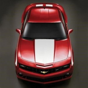 2010 Camaro GM Performance Decal/Stripe Package - Hood and Hockey Stick Stripe - White