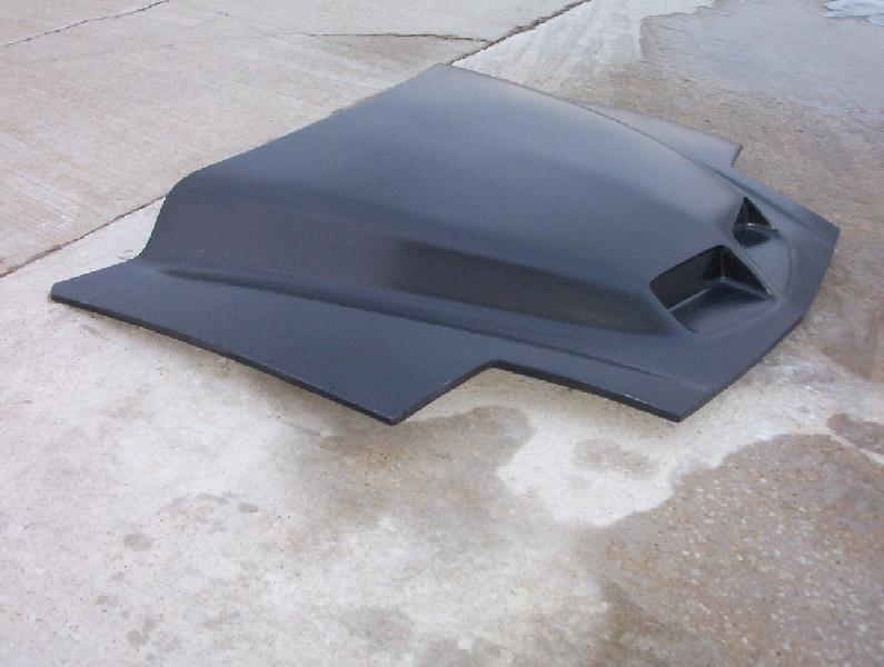 "93-97 Firebird 4"" Raised Ram Air Hood (Pin On)"