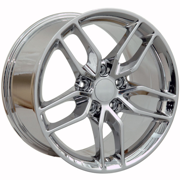 "OE Wheels Corvette C7 Stingray Replica Wheel - PVD Chrome 18x8.5"" (56mm Offset) - Set of 4"