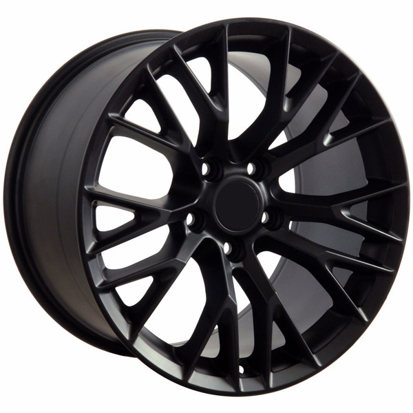 "OE Wheels Corvette C7 ZO6 Replica Wheel - Matte Black 17x9.5"" (54mm Offset) - Set of 4"