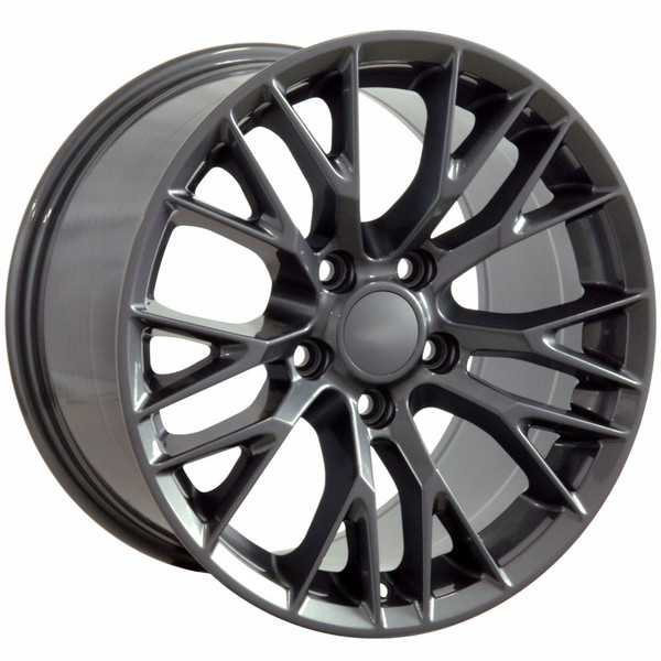 "OE Wheels Corvette C7 ZO6 Replica Wheel - Gunmetal 17x9.5"" (54mm Offset) - Set of 4"