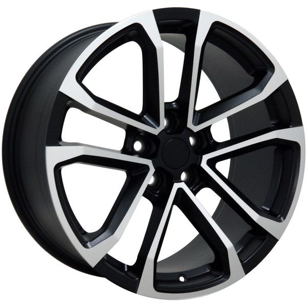 "OE Wheels Camaro ZL1 Replica Wheel - Satin Black w/Machined Face (20x8.5""/20x9.5"" 35mm/40mm Offset) - Set of 4"
