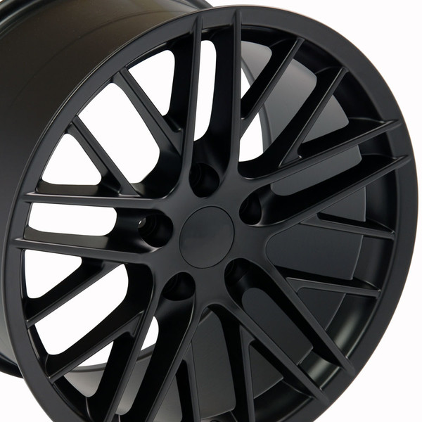 "OE Wheels Corvette C6 ZR1 Replica Wheel - Satin Black 17x9.5"" (54mm Offset) - Set of 4"