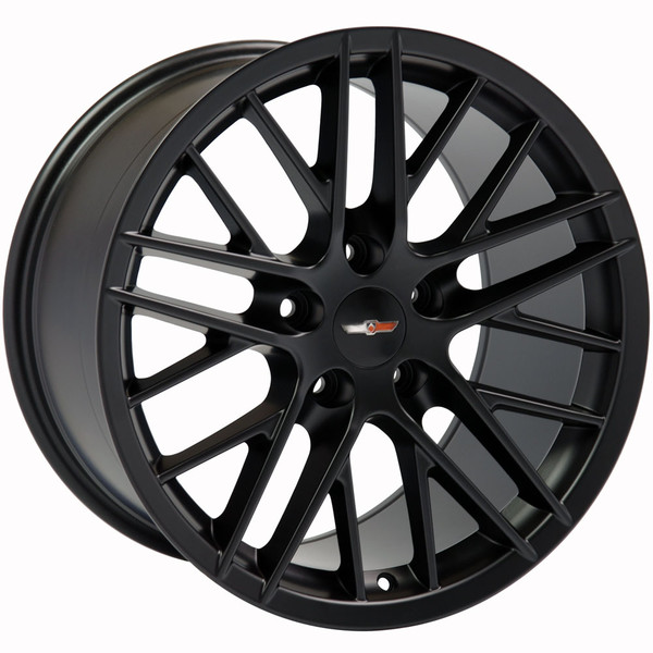 "OE Wheels Corvette C6 ZR1 Replica Wheel - Satin Black 17x9.5"" & 18x10.5"" (54mm/56mm Offset)"