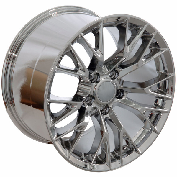 "OE Wheels Corvette C7 ZO6 Replica Wheel - Chrome 17x9.5"" (54mm Offset) Set of 4"