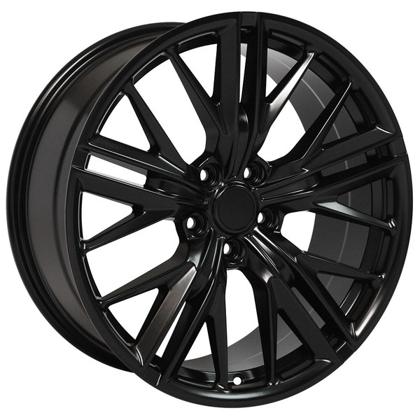 "OE Wheels Camaro 6th Gen ZL1 Replica Wheels - Satin Black 20x8.5"" (35mm Offset) Set of 4"