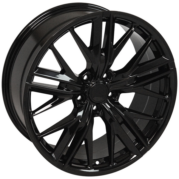 "OE Wheels Camaro 6th Gen ZL1 Replica Wheels - Black 20x8.5""/20x9.5"" (35mm/40mm Offset) Set of 4"