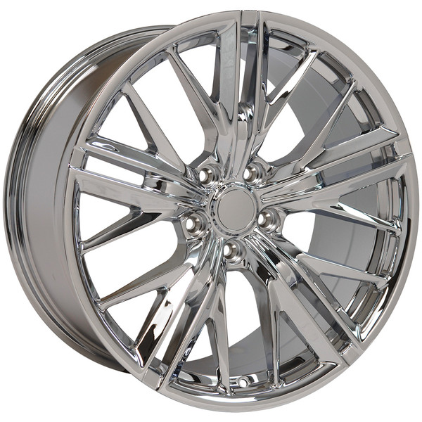 "OE Wheels Camaro 6th Gen ZL1 Replica Wheels - Chrome 20x8.5""/20x9.5"" (35mm/40mm Offset) Set of 4"