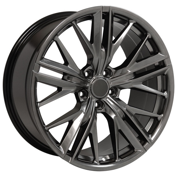 "OE Wheels Camaro 6th Gen ZL1 Replica Wheels - Hyperblack 20x8.5""/20x9.5"" (35mm/40mm Offset) Set of 4"