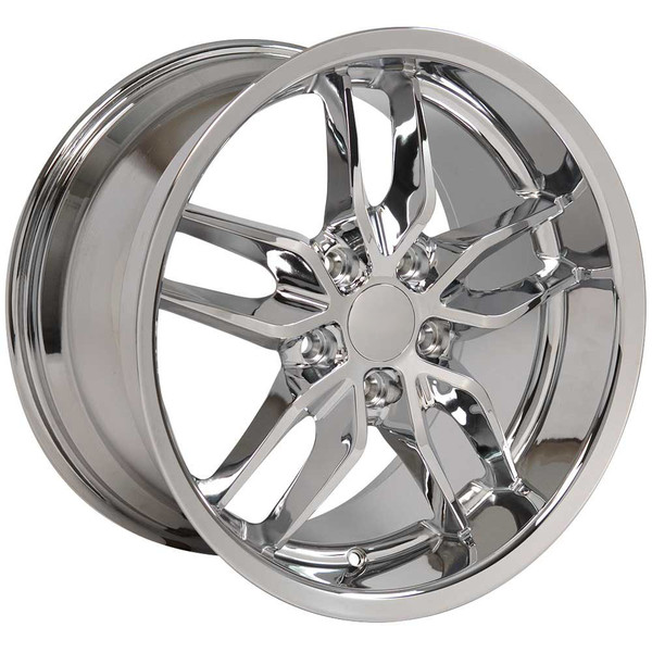 "OE Wheels Corvette C7 Stingray Replica Wheels - Chrome Deep Dish (17x9.5"" & 18x10.5"" - 54mm/56mm Offset)"