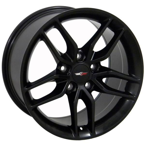 "OE Wheels Corvette C7 Stingray Replica Wheel - Satin Black 17x9.5"" (54mm Offset)"