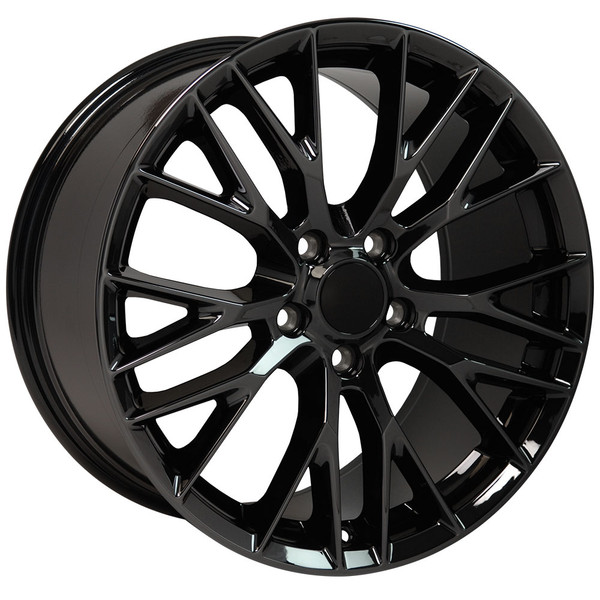 "OE Wheels Corvette C7 ZO6 Replica Wheel - PVD Black Chrome 17x9.5"" (54mm Offset)"