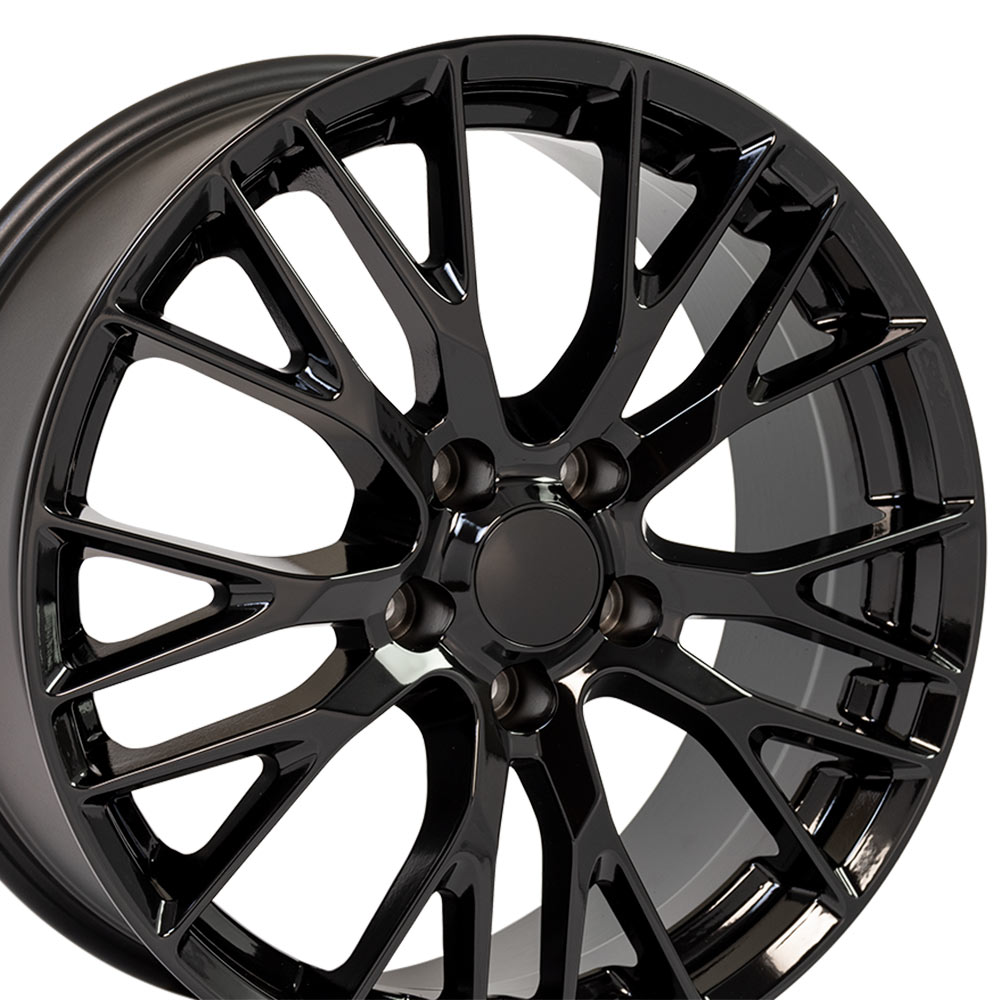 "OE Wheels Corvette C7 Z06 Replica Flow Form Wheel - Black 19x8.5"" (56mm Offset)"