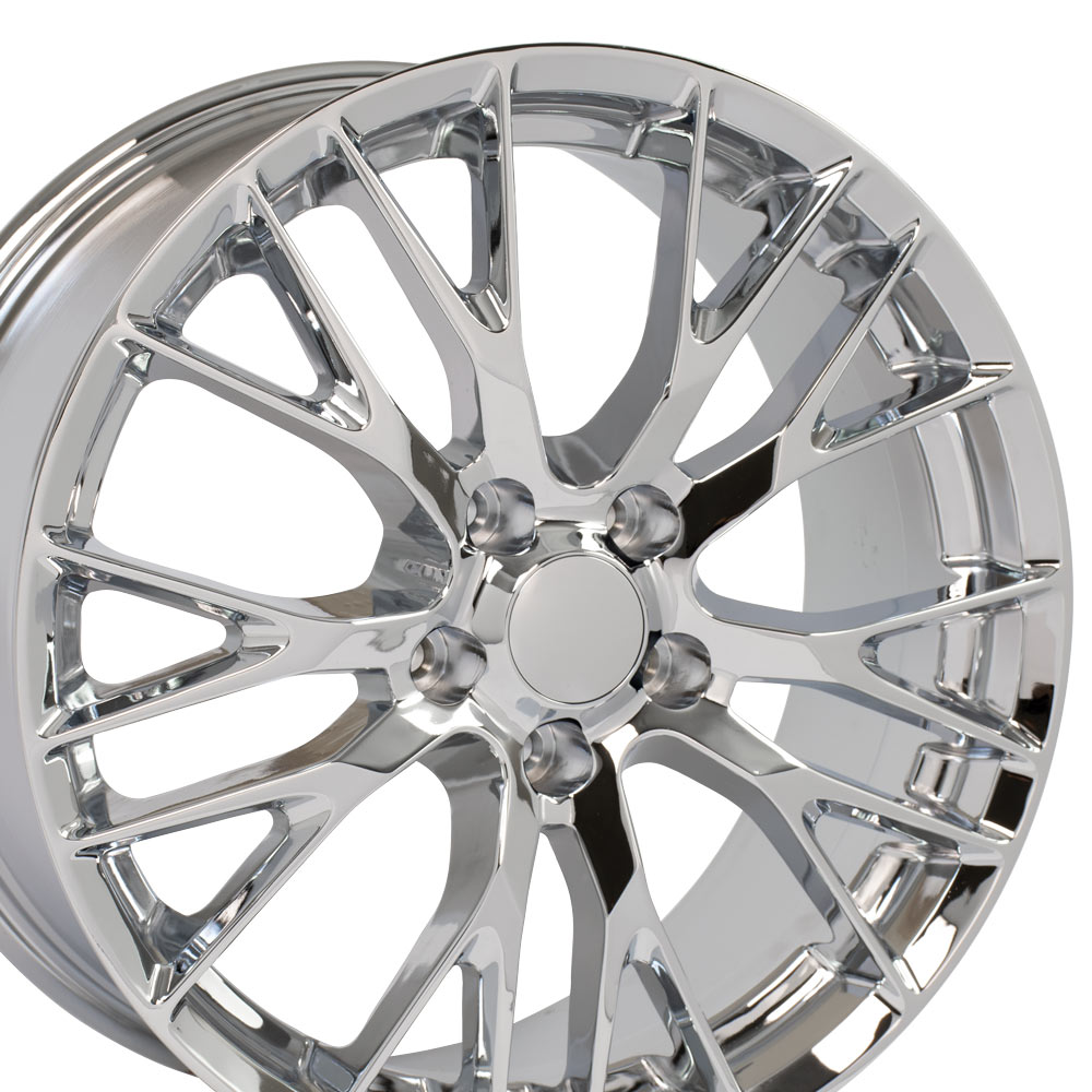"OE Wheels Corvette C7 Z06 Replica Flow Form Wheel - Chrome 19x8.5"" (56mm Offset)"