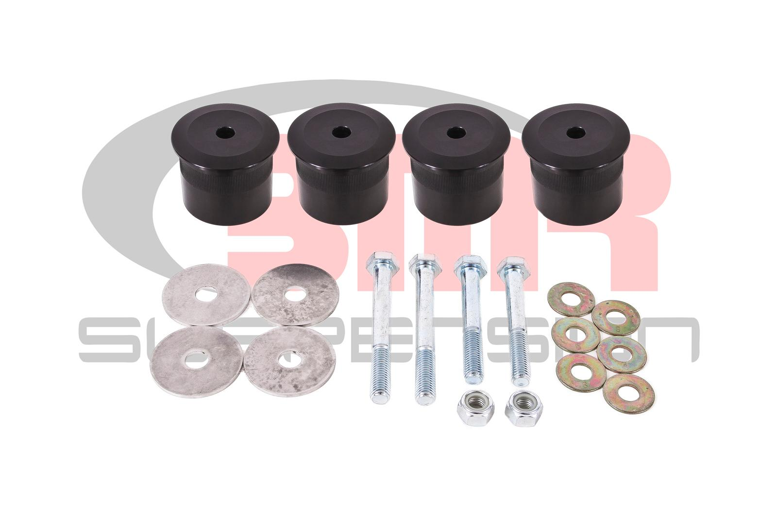 2015+ Ford Mustang BMR Suspension Rear Differential Billet Aluminum Bushing Kit
