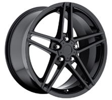 "House of Wheels Gloss Black C6 ZO6 Corvette Replica Wheels - 17x9.5"" +54mm Offset"