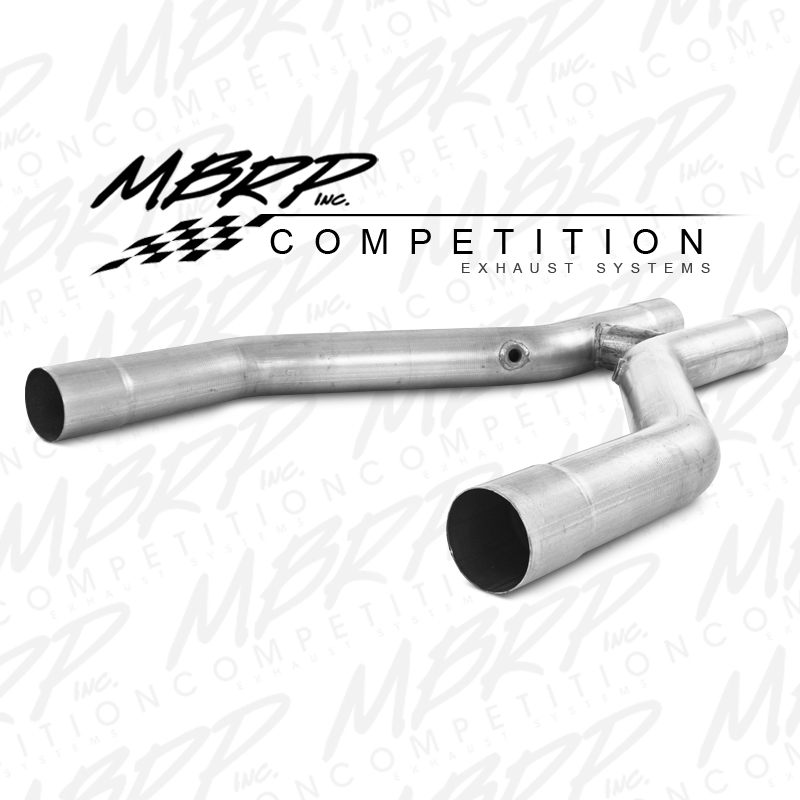 2011+ Ford Mustang GT/GT500 5.0L/5.4L V8 MBRP Performance Offroad H-Pipe (Use with MBRP Headers) - Aluminized Steel