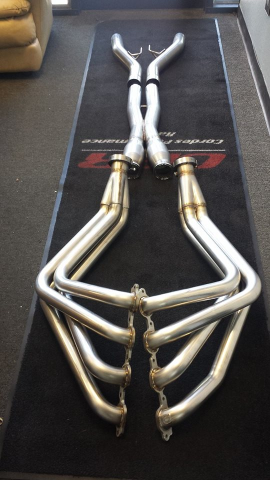 "2014+ C7 Corvette Cordes Performance Racing 2"" Stainless Long Tube Headers w/Catted Mid-Pipes"