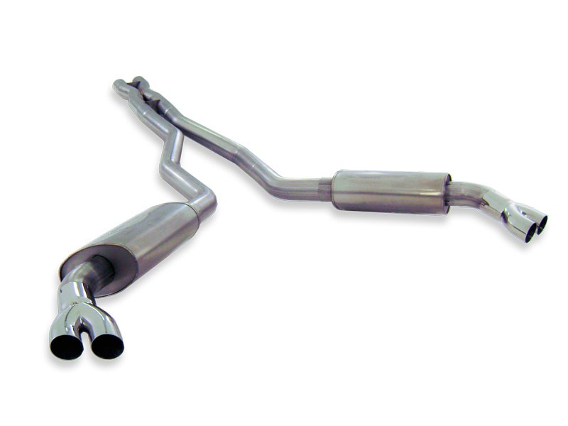 "2010-2013 Camaro SS Stainless Works 3"" Dual S-Tube Catback Exhaust System w/Xpipe - For Factory Ground Effects Kit (SW Headers)"