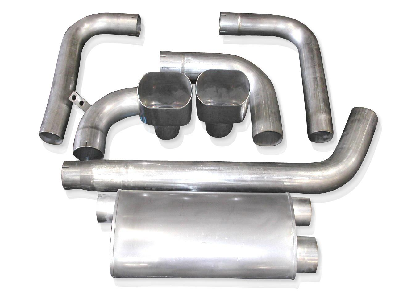 "93-02 Fbody Stainless Works 3"" Turbo Muffler Exhaust System w/Wide Oval Tips"