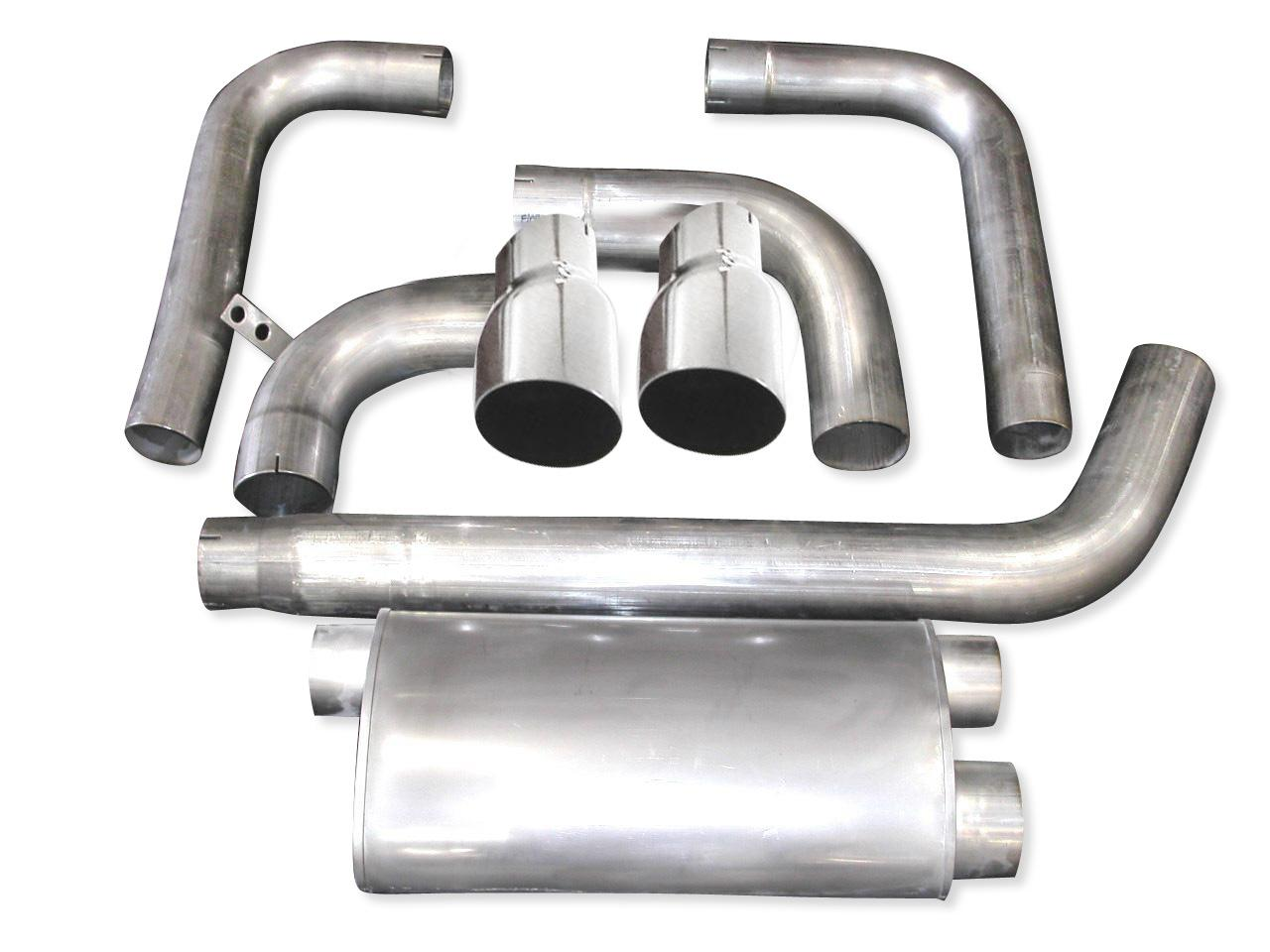 "93-02 Fbody Stainless Works 3"" Turbo Muffler Exhaust System w/Slash Cut Tips"
