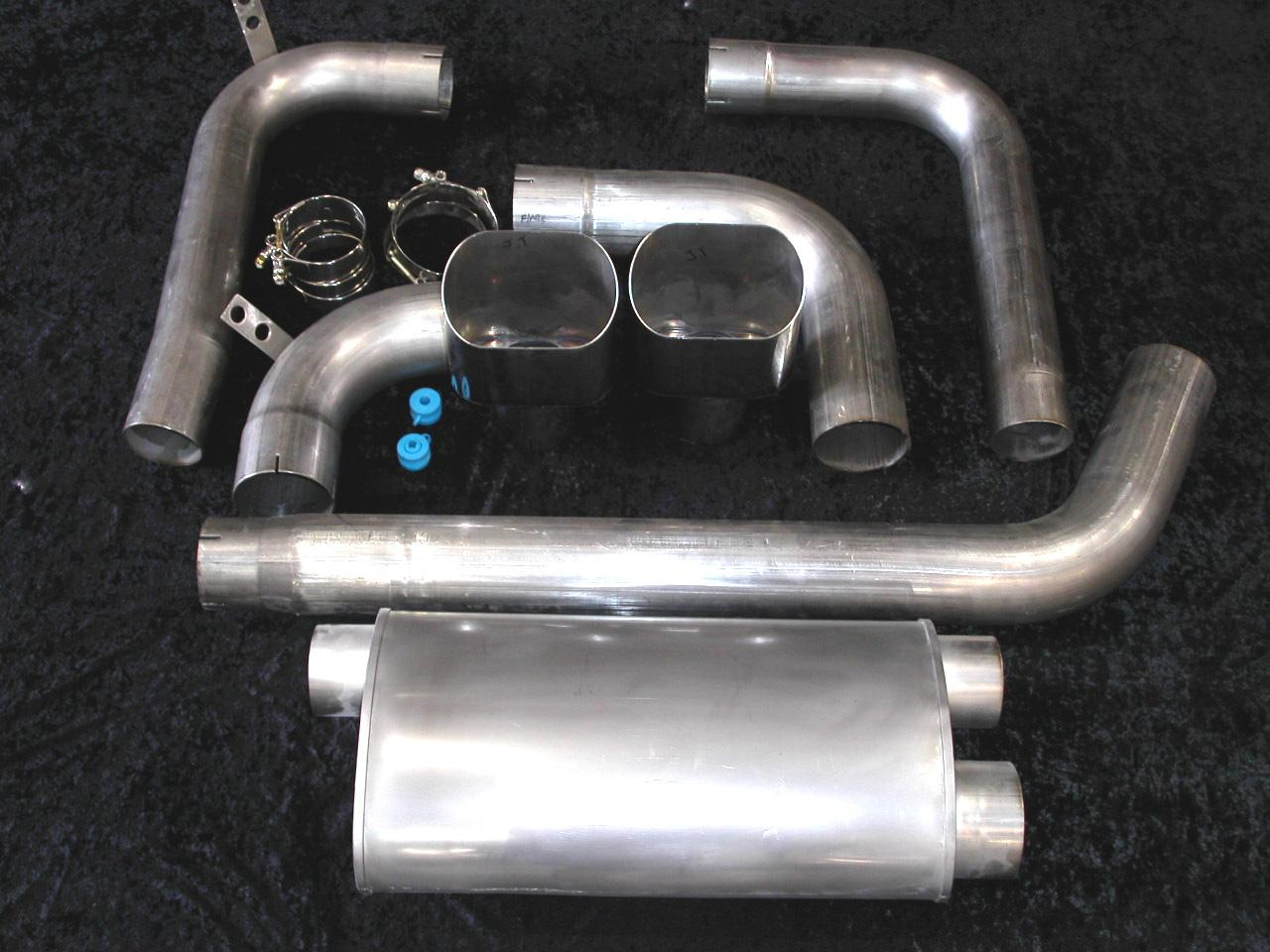 "93-02 Fbody Stainless Works 3.5"" Turbo Muffler Exhaust System w/Slash Cut Tips"