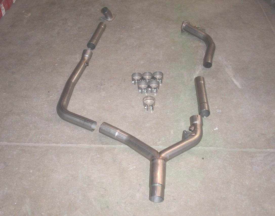 98-99 LS1 Fbody Stainless Works High Flow Offroad Ypipe (Fits Stock Manifolds)